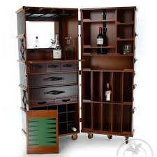 Trunk Bar Cabinet Mobile Bar Cabinet Black Cabin Trunk Nelson Saulaie