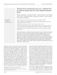 microbiology society journals streptomyces atacamensis sp nov
