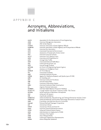 appendix c acronyms abbreviations and initialisms security