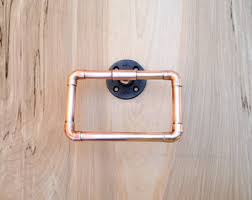 industrial bathroom accessories set 4 pc copper by macandlexie