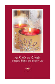 special brother sister law greeting card christmas