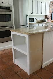 kitchen island with shelves our remodeled kitchen island with built in microwave shelf