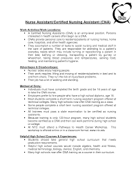 Cna Resume Examples by Resume For Cna Position Sample Free Resume Templates