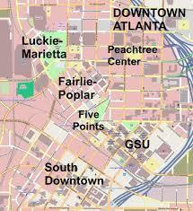 Map Of Atlanta Atlanta Downtown Map And Map Of North East America