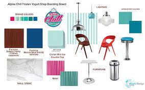 Interior Design Material Board by Alpine Chill Frozen Yogurt Opened Its Doors U2013 Commercial Interior