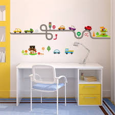 Aliexpresscom  Buy Cartoon Cars Bus Road Wall Stickers Kids Room - Stickers for kids room