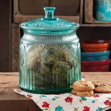 glass kitchen canisters the pioneer woman adeline glass cookie jar