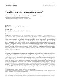 cr it agricole si e social the affect heuristic in occupational safety pdf available