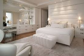 how to make your bedroom cozy modern cozy white bedroom design with white fur rug and large wall