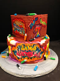 and glow graffiti and glow themed 2 tier cake for your next glow