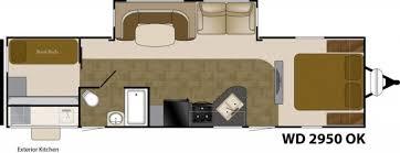 Wilderness Rv Floor Plans 2014 Heartland Wilderness 2950ok Travel Trailer Rv For Sale Rv