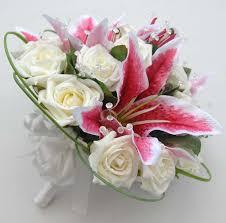 stargazer bouquet pink stargazer ivory diamante bridal bouquet