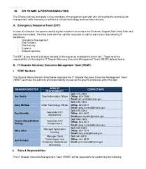 disaster recovery plan example 8 free word pdf documents