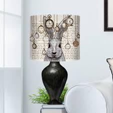 Rabbit Home Decor Alice In Wonderland White Rabbit Lampshade By Fabfunky Home Decor