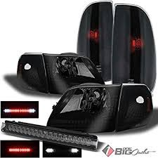 2002 ford f150 tail lights amazon com for 1997 2004 ford f150 mystery black smoked headlights