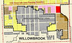 Dupage County Map 55th Street Sub Area Plan Clarendon Hills Il