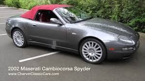 convertible maserati spyder 2002 maserati cambiocorsa spyder charvet classic cars youtube