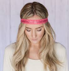 boho headbands godbead boho headband pink beaded bohemian crochet ribbon headband
