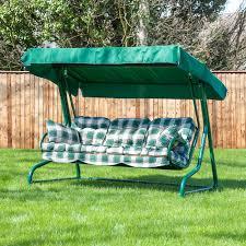garden swing seat for 3 luxury cushions alfresia