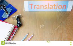 bureau traduction bureau traduction mot de traduction sur la table de bureau image