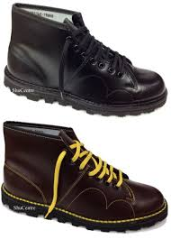 s monkey boots uk grafters unisex original retro lace up monkey boots 1960 s style