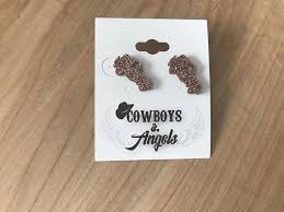 rose gold jeep rose gold glitter jeep earrings u2013 cowboys u0026 angels