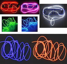 2015 5m flexible neon led light glow el wire string strip