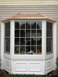 bay bow windows renewal by andersen white bay colnial intw copper top