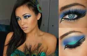 Makeup For Halloween Costumes by Pretty Peacock Halloween Tutorial Youtube