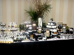 Candy Table For Wedding Black And White Candy Table For A 50th Birthday Party 50th