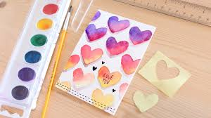 valentines day writing paper easy diy valentine s day card made with minimal supplies youtube