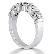 womens diamond wedding bands 5 common bar set womens diamond wedding band 1 25 total