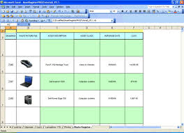 Fixed Asset Register Excel Template Fixed Asset Accounting With Macrs For Excel Excel Spreadsheet