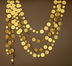 gold party decorations gold garland gold wedding garland gold party decor paper