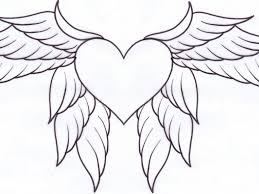 coloring pages of hearts with wings heart coloring page throughout