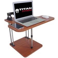 titan deluxe adjustable height standing desk conversion kit riser