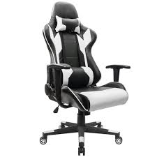 Black And White Chairs amazon com homall executive swivel leather gaming chair racing