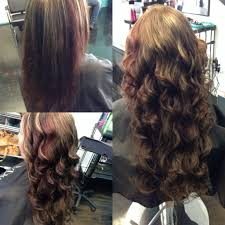 Curly Fusion Hair Extensions by Keratin Bonded Fusion Hair Extensions Before And After Hair