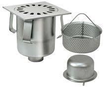 cuisine siphon siphon de sol en acier inox carré pour cuisine avec grille