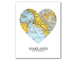 california map oakland oakland ca map etsy