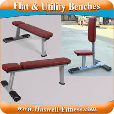 workout fitness equipment dumbbell weight utility and flat bench