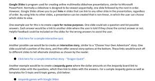 creating interactive google presentations google docs