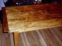 curly maple dining room set by hamneggs lumberjocks com