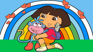 dora the explorer coloring pages dora the explorer rainbow coloring page icomic games youtube
