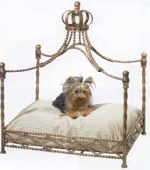 Pet Canopy Bed Luxury Iron Royal Gold Crown Pet Bed Jeweled