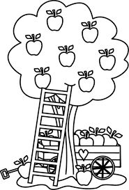 carriage apple tree colouring happy colouring