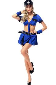Cops Costumes Halloween Blue Knotted Cops Costume Cops Costumes Policewoman