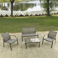 Patio Furniture Table And Chairs Set by 4pcs Patio Garden Furniture Set Steel Frame Outdoor Lawn Sofa