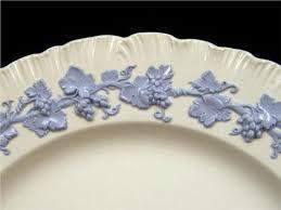 twelve wedgwood embossed queensware blue on white porcelain dinner