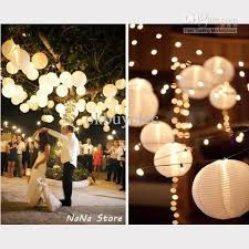 paper lanterns with lights for weddings 12 white paper lantern round lantern lshade with led mini light